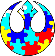 Rebel Alliance Autism Awareness Tattoo Design by veluptous