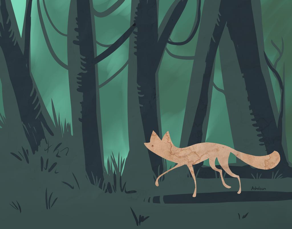 Slinky fox by e-pona