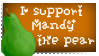I support Mandy the pear stamp by Ducktility