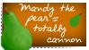 Mandy the pear is cannon stamp by Ducktility