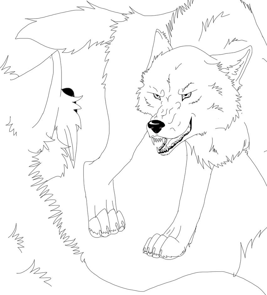 Sketches Of Wolves Fig...
