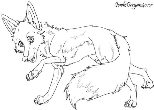 Lineart Fox Commision