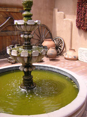 Fountain at Chimayo by laurapalmer