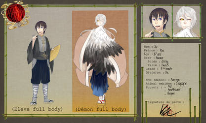 Academie Yokai    Feuille D Application   P by FuonHicali