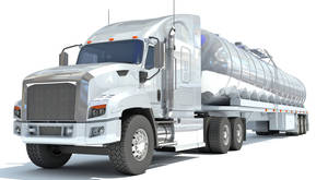 3D Models Truck with Semi Trailer