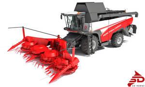 3D model Forage Harvester Combine