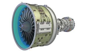 GTF Geared Turbofan Engine with Interior