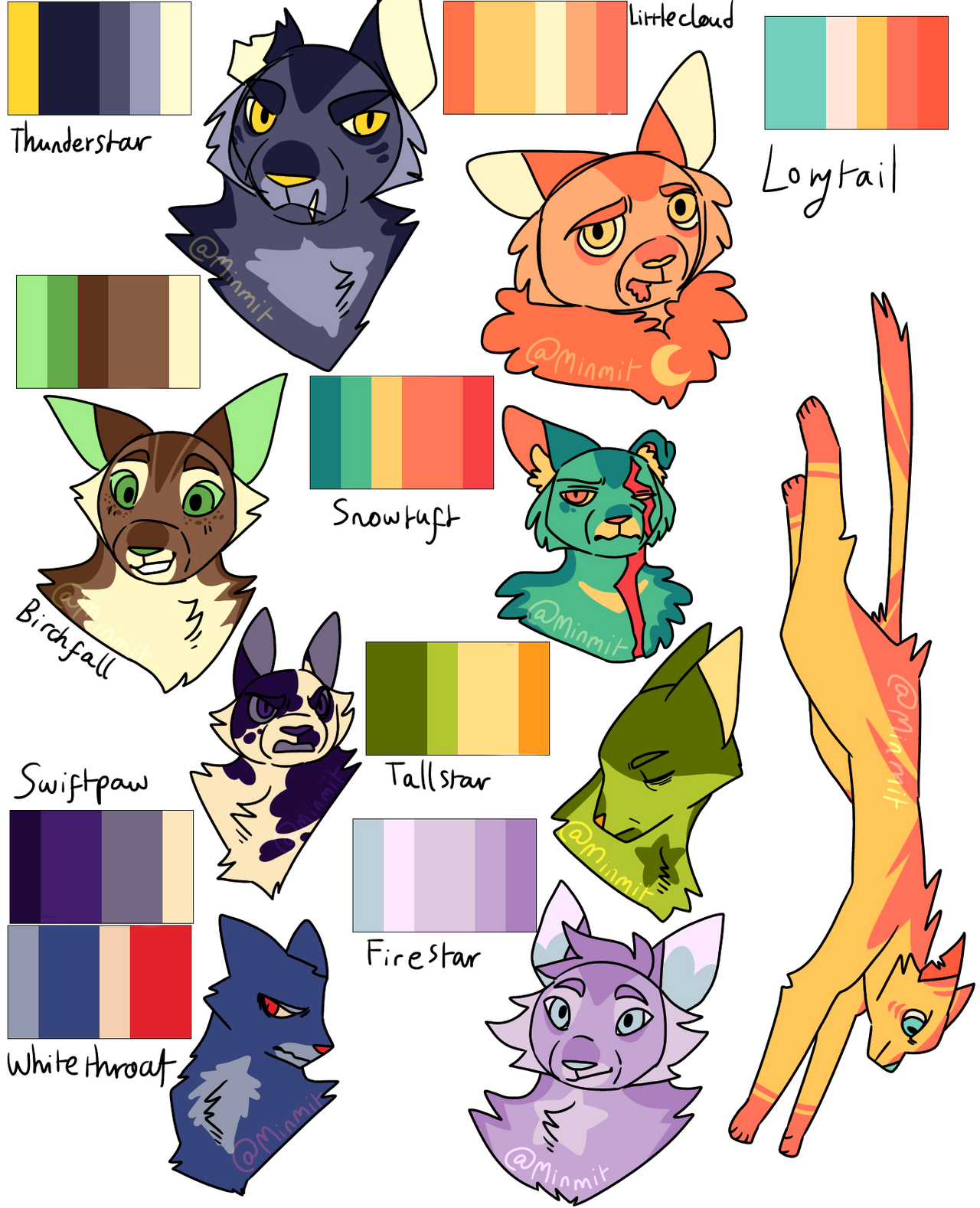 Warrior Cats Color Palettes By Minmit On Deviantart