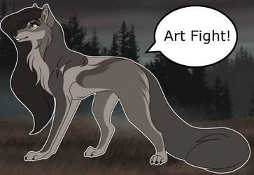 Art Fight by TheWolfFight