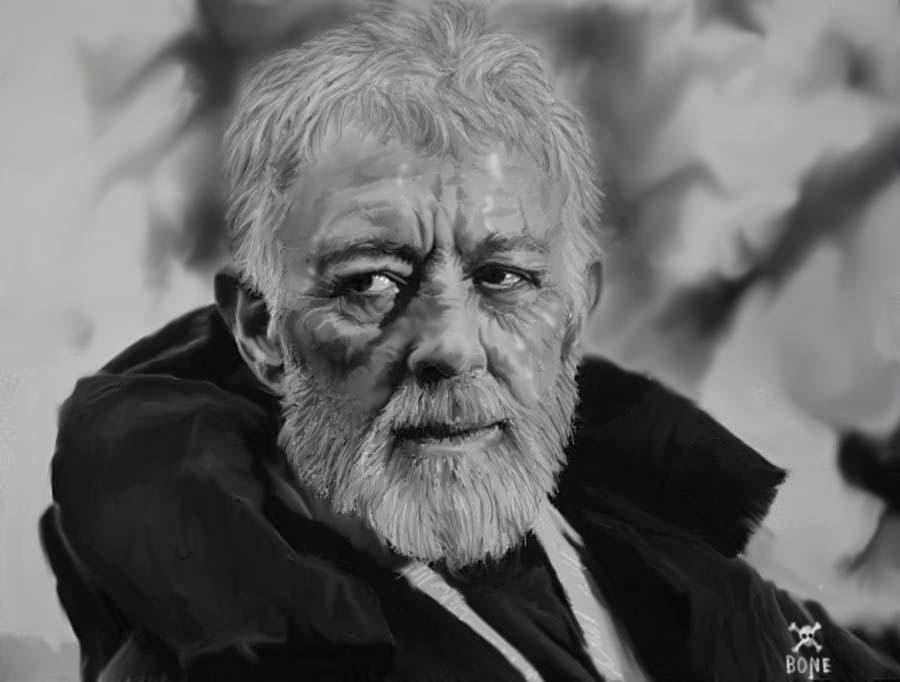 Obi Wan Kenobi These Arent The Droids Youre Looking For OBI-WAN KENOBI by NeDrawMas