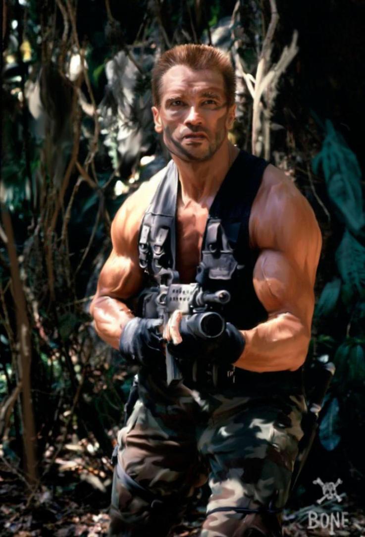 Arnold in Predator by NeDrawMas on DeviantArt