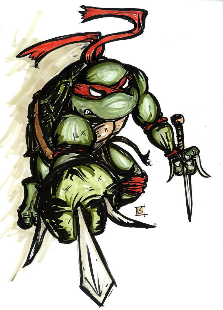 Raphael The Turtle Ninja by sedani - 165.2KB