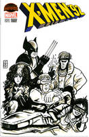 X-men 92 Breakfast Club Sketch Cover
