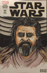 Luke Skywalker Sketch Cover by sedani