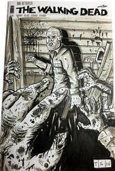 The Walking Dead #150 Sketch Cover by sedani