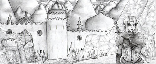 Sowen The ice citadel :sketch: by melodygrint