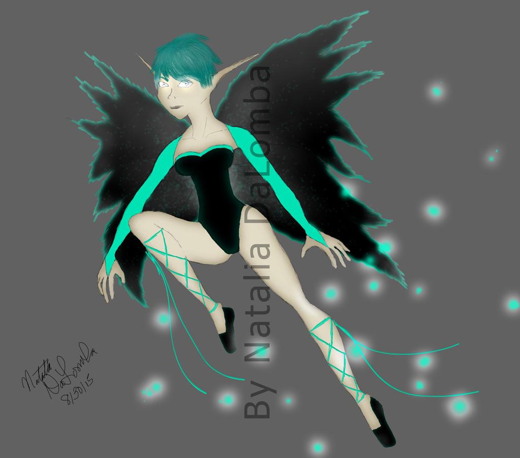 Neon Fairy v1 by LadyNati on DeviantArt Neon Fairy Wallpaper
