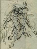 Sketch - Light vs Darkness by Vladimir89