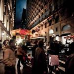 busy street night
