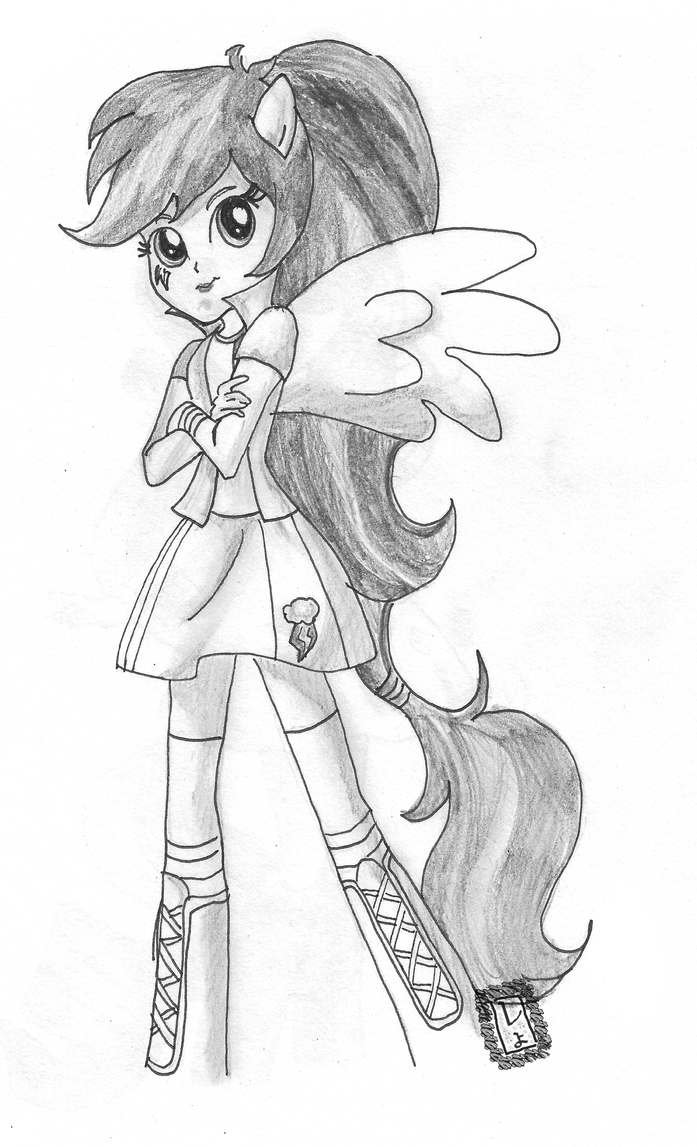 Rainbow Dash Equestria Coloring Pages Coloring Pages