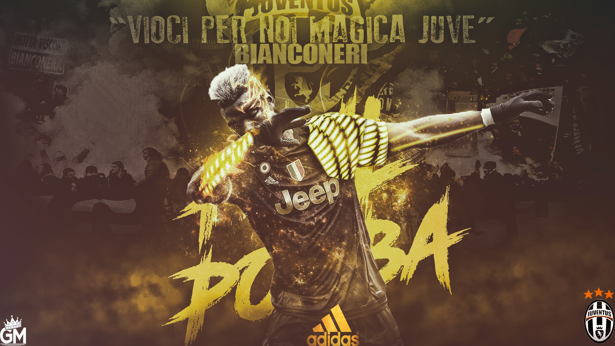 Paul pogba wallpaper by graphicalmaniacs on deviantart for Fond d ecran juventus pc