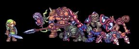 Zelda OOT: Monsters by Orkimides