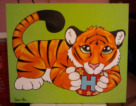 Commissioned Painting - For Baby 'Hayden'