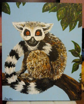 Commissioned Lemur Painting