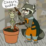 Rocket and Groot (GOTG SPOILERS)