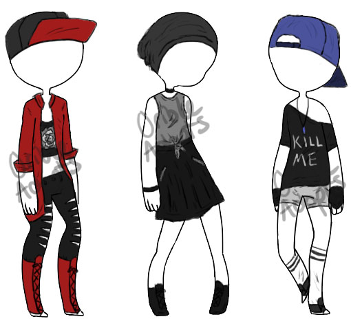 Cheap Emo Outfit Adopts (1/3 Open) by OrioleAdopts on DeviantArt