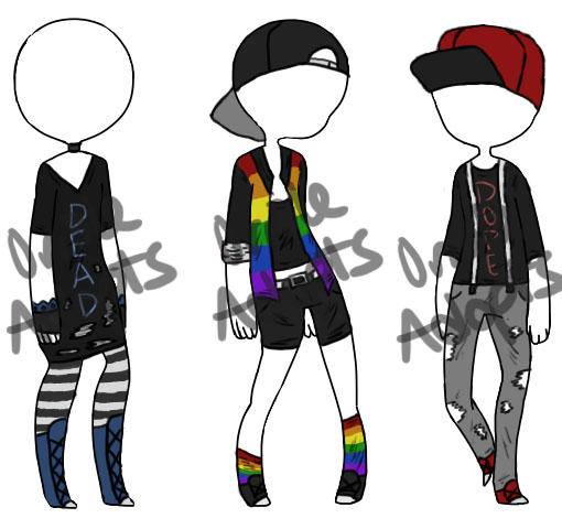 cheap emo outfit adopts 1 3 open by orioleadopts on deviantart