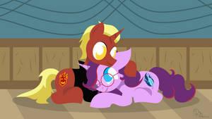 Firemou Snuggling