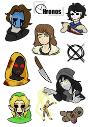 Creepy stickers by booozzerd