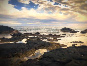 Ocean Sun by StormOfCorgis