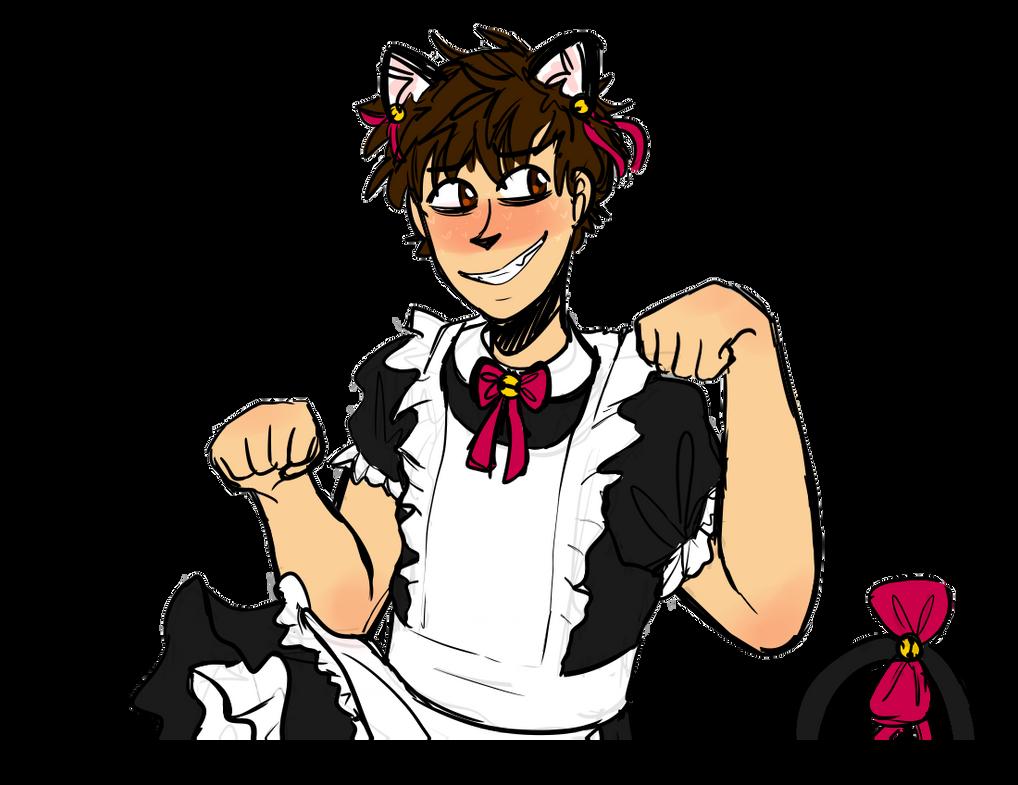 Transparent Catboy Maid