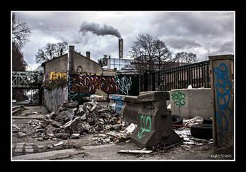 Saint-Ouen, France, urban destroy