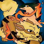 Typhlosion and Arcanine Commission! by Caution-Koneko