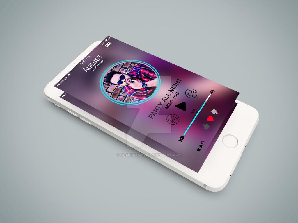 Music player app Design by RaselClickz on DeviantArt