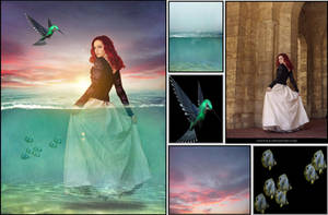 Photo manipulation {Girl in the sea} FINAL