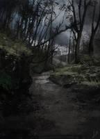 Trail in the woods by LLirik-13