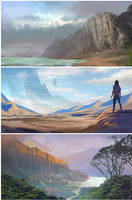 Landscape sketches by LLirik-13