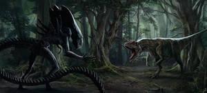 Alien vs Allosaurus. remake)