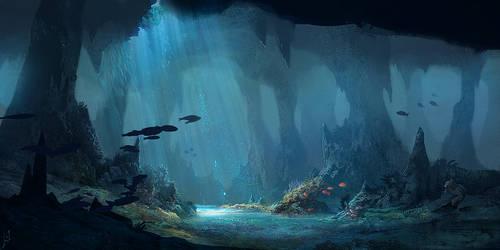 Underwater cave by LLirik-13