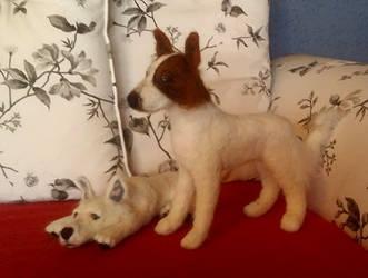 Gordon and Lumos - Needle Felted Dogs