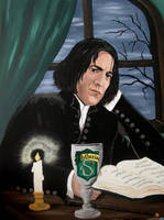 Snape read a Book by Vulkanette