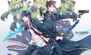 Ao no Exorcist- battle
