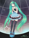 Miku hatsune Vocaloid by jaerika
