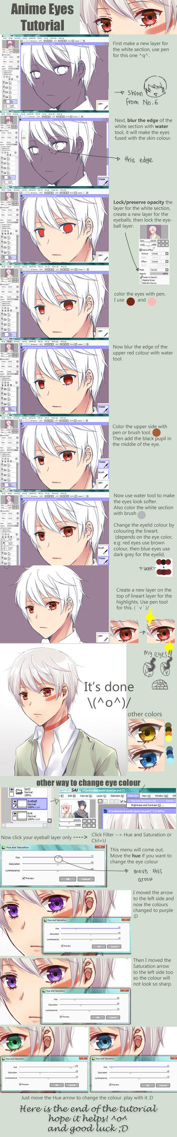 Anime eyes Tutorial by jaerika