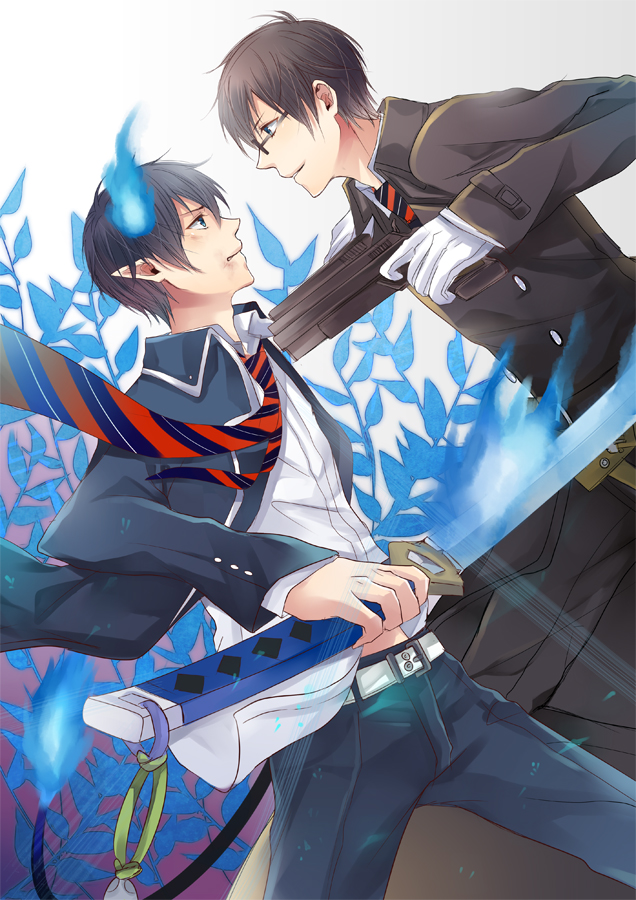 Ao no exorcist - bro fight by jaerika