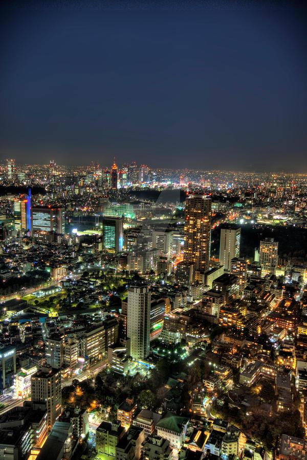 Tokyo night lights by Keith-Killer